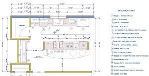 kitchen floor plan view in 2D