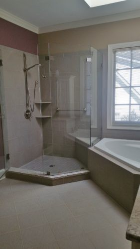 shower and tub