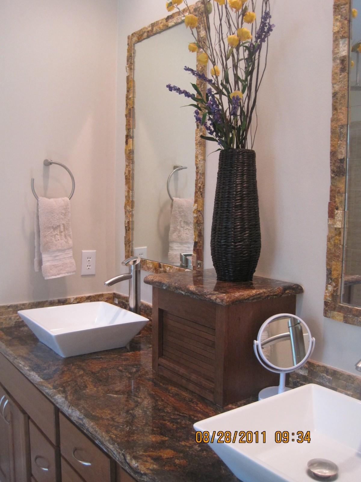 lava vanity with vessel sinks