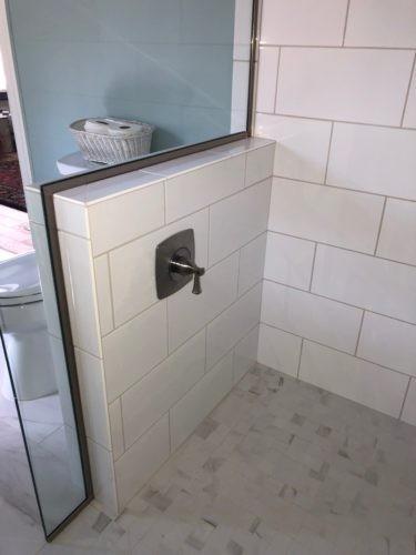 shower control near entry controls main shower head