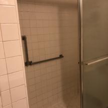 old cramped shower