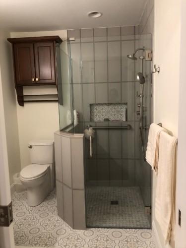 walk-in Schluter system shower