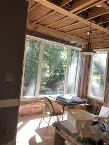 before - small breakfast nook