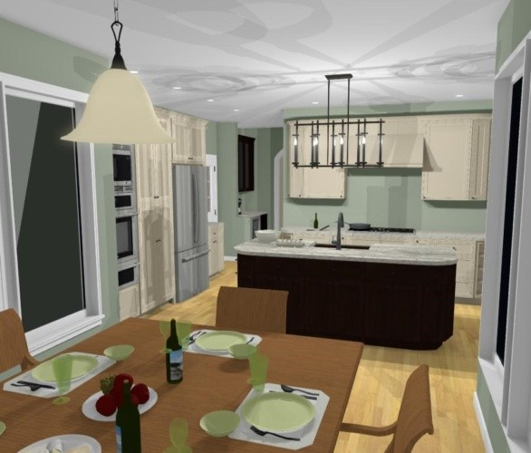 Color 3D rendering - vew from nook