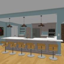 new kitchen 3D rendering