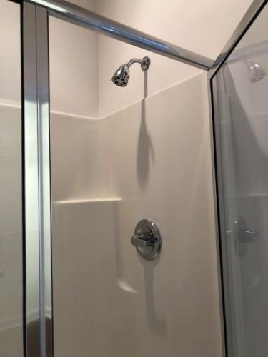 old fiberglass shower insert