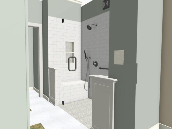 Proposed new shower